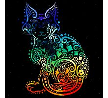 Inked Cat Photographic Print