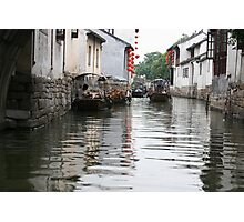 Under the Bridge, Zhouzhuang, China Photographic Print