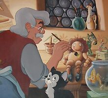 Disney Pinocchio Disney Cat/Kitten Figaro by notheothereye