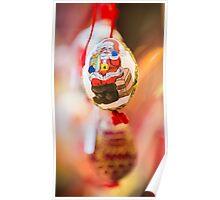 Christmas egg Santa Claus  Poster
