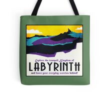 Explore the tranquil Kingdom of Labyrinth - retro travel poster Tote Bag