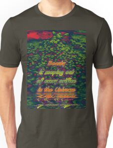 Beauty is seeping out of every orifice in the universe Unisex T-Shirt