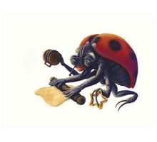 Ladybird Biscuits Art Print