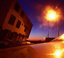 Nightfall over Pisco Playa by Elaine Stevenson