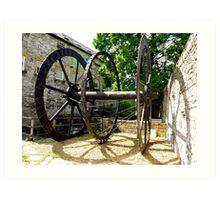 The Old Water Mill Wheel Art Print