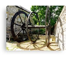 The Old Water Mill Wheel Canvas Print