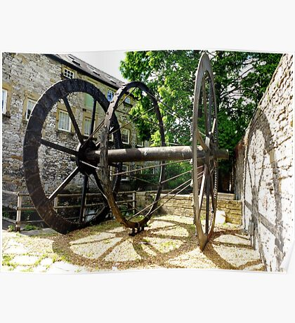 The Old Water Mill Wheel Poster