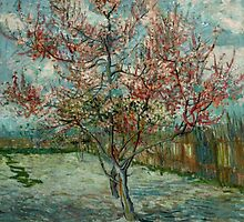 'Pink Peach Trees Souvenir de Mauve' by Vincent Van Gogh (Reproduction) by Roz Abellera Art Gallery