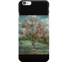 'Pink Peach Trees Souvenir de Mauve' by Vincent Van Gogh (Reproduction) iPhone Case/Skin