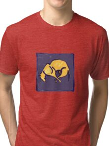 TIRED OLD DOG AT NIGHT  Tri-blend T-Shirt