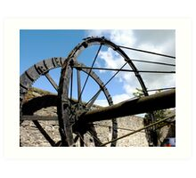 The Mill Wheel Art Print