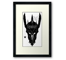 Shadow is coming Framed Print