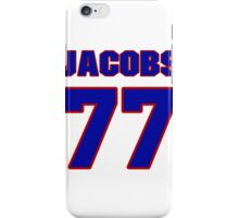 National football player Proverb Jacobs jersey 77 iPhone Case/Skin