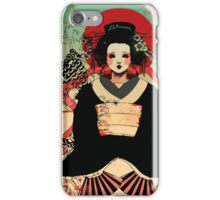 Geisha antique japan iPhone Case/Skin
