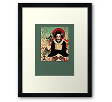 Geisha antique japan Framed Print
