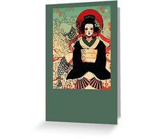 Geisha antique japan Greeting Card