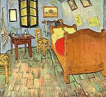 'Van Gogh's Bedroom' by Vincent Van Gogh (Reproduction) by Roz Abellera Art
