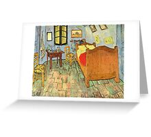 'Van Gogh's Bedroom' by Vincent Van Gogh (Reproduction) Greeting Card