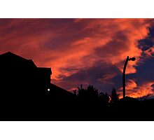 silhouette sunset Photographic Print