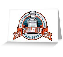 Back to Back Full Season Champions - Retro  Greeting Card