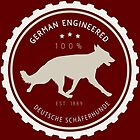 German Engineered, the German Shepherd by bluegirldesign