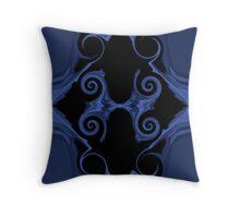 blue sword handle Throw Pillow