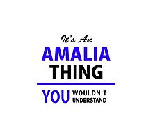 It's an AMALIA thing, you wouldn't understand !! by allnames