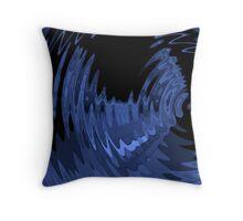 blue ripple Throw Pillow