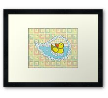 Chaucer the Rubber Duck Framed Print
