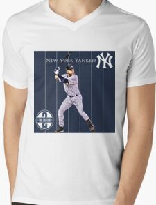 New York Yankees Captain Derek Jeter Mens V-Neck T-Shirt
