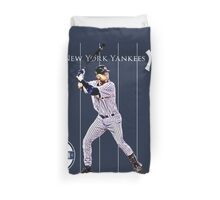 New York Yankees Captain Derek Jeter Duvet Cover
