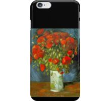 'Red Poppies' by Vincent Van Gogh (Reproduction) iPhone Case/Skin