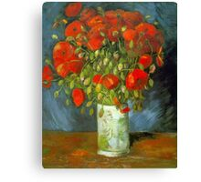 'Red Poppies' by Vincent Van Gogh (Reproduction) Canvas Print