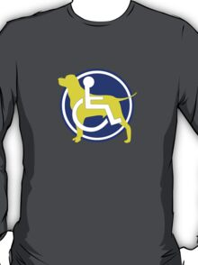 SERVICE DOG WHEELCHAIR T-Shirt