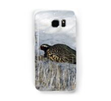 Rooster Pheasant in the snow Samsung Galaxy Case/Skin