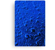 Sapphire Droplets Canvas Print