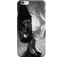 Girl with Lantern in Black and White iPhone Case/Skin
