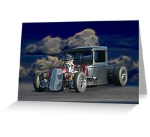 Righteous Rat Rod Greeting Card