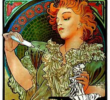 'Lance Parfum' by Alphonse Mucha (Reproduction) by Roz Abellera Art Gallery