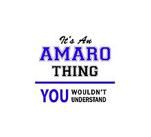 It's an AMARO thing, you wouldn't understand !! by allnames
