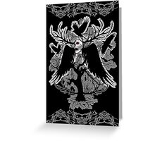 Nightmare Skull and Crows Greeting Card