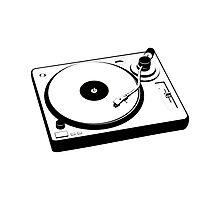 DJ Turntable Photographic Print