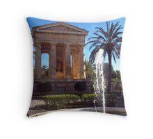 Valletta, lower Baracca Gardens Throw Pillow