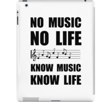 Know Music Know Life iPad Case/Skin