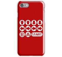 The Konami Code iPhone Case/Skin