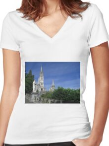 The Marian Shrine Women's Fitted V-Neck T-Shirt