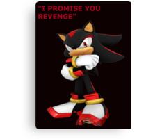 Shadow The Hedgehog- I promise you....Revenge! Canvas Print