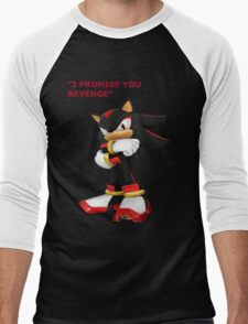 Shadow The Hedgehog- I promise you....Revenge! Men's Baseball ¾ T-Shirt