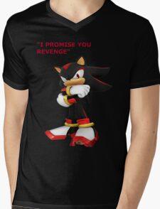 Shadow The Hedgehog- I promise you....Revenge! Mens V-Neck T-Shirt
