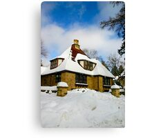 Winter Fairy Tale House Canvas Print